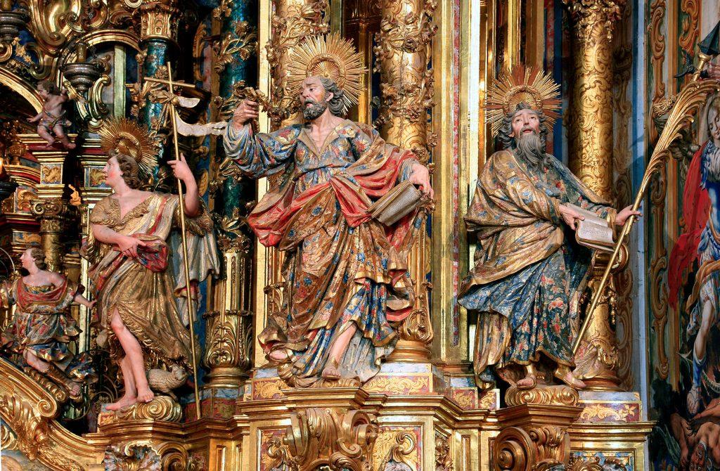 Retaule Barroc detall. Santuari del Miracle, Solsonès
